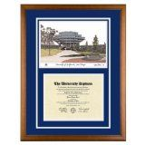 University of California San Diego Diploma Frame with UCSD Lithograph Art PrintBy Old School Diploma Frame Co.