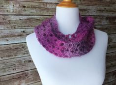 Pink and Purple Infinity Scarf by AbigailsAttic112 on Etsy