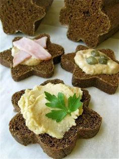 Great idea for hourderve! Cookie cut your bread into flowers..adds a cute flare!