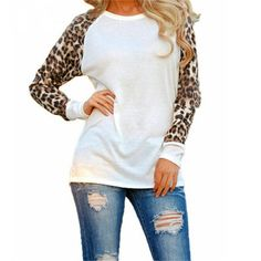 Walk in The Wild Leopard Top -White – The Chic Find