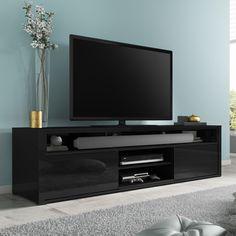 Dark walnut tv stands black high gloss unit with soundbar shelf dark walnut corner tv cabinet .
