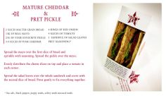 Pret a Manger cheese and pickle sandwich love.