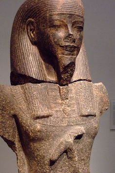Male God Dynasty 18 Egypt Granodiorite carved in the style of Amenhotep III