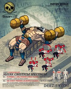 chest exercises: chest flyes mayan
