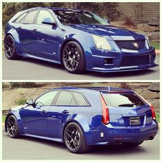 Wide Body CTS-V Wagon; 600 HP manual transmission, nice paint and a nice rear for a wagon; who would ever think going for groceries would be this fun! This will be my next wagon if I can find one. Cadillac Cts V, Audi S5, Jaguar Xjr, Cts V Wagon, E90 Bmw, Automobile, Sports Wagon, Maserati, Bugatti
