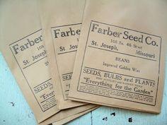 old seeds packaging