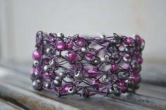 pretty knitted wire jewelry