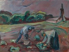 The garden » Munch's Ekely At Work by the Greenhouse 1924 / Oil on canvas Rogaland Art museum