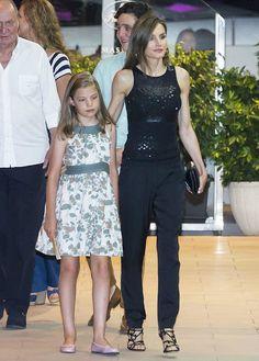 Queen Letizia and Infanta Sofia - Spanish Royal Family ate at a restaurant in Mallorca