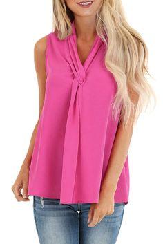 Joe Wenko Womens T-Shirt Pullover Twist Knot Irregular O-Neck Blouse Top