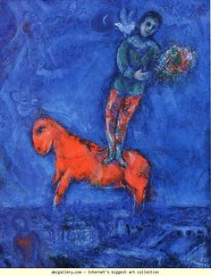 Marc Chagall. Child with a Dove. Olga's Gallery.