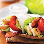 Chicken Club Wrap with Garlic Mayo. I keep forgetting to make these.