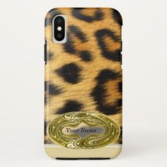 #Leopard Skin Animal Print iPhone X Case - #cute #gifts #cool #giftideas #custom
