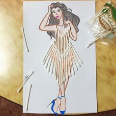 Gorgeous Princess Dresses by Laurence Aquino. Fashion Artwork, Fashion Design Drawings, Fashion Sketches, Fashion Illustration Dresses, Dress Illustration, Creative Artwork, Art Plastique, Designs To Draw, Flower Art