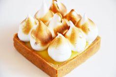 Tarte citron meringuée et crème de noisette