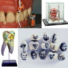 If It's Hip, It's Here: Art With Bite; Tooth Tattoos, Mouth Molds With Minifigs & Painted Teeth