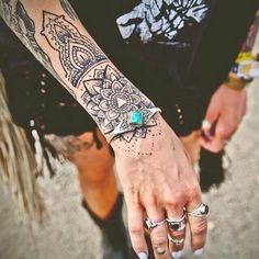mandala tattoo lotus mandala unterarm deko