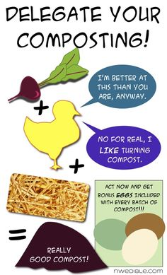 Delegate your composting! Let the hens do the hard work!