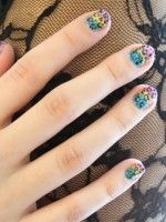 Score A Lisa Frank Mani With This Nail-Art Tutorial #refinery29
