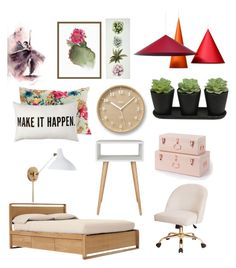 """""""Dream Bedroom"""" by ayla-raine on Polyvore featuring interior, interiors, interior design, home, home decor, interior decorating, Design Within Reach, Pottery Barn, Lemnos and bedroom"""