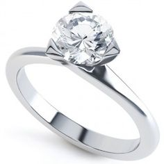 3 Claw Round Solitaire Diamond Engagement Ring