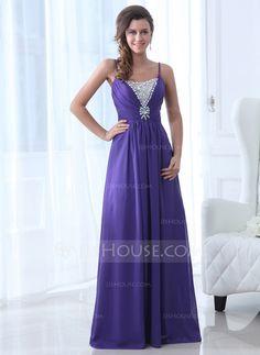 Evening Dresses - $142.99 - A-Line/Princess Scoop Neck Floor-Length Chiffon Evening Dress With Beading (017017365) http://jjshouse.com/A-Line-Princess-Scoop-Neck-Floor-Length-Chiffon-Evening-Dress-With-Beading-017017365-g17365?snsref=pt&utm_content=pt