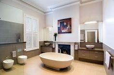 Huge bathroom - with a fireplace.  So decadent!