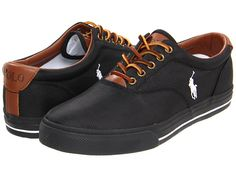 Polo Ralph Lauren Vaughn Polo Black/Black Cordrua/Leather - Zappos.com Free Shipping BOTH Ways