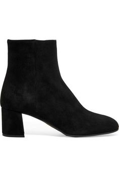 Heel measures approximately 55mm/ 2 inches Black suede Zip fastening along side Made in Italy