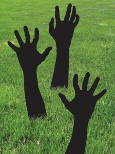 Check out Zombie Shadow Hands - Wholesale Outdoor Decorations for Your Home Or Business from Wholesale Halloween Costumes (Diy Decoracion Halloween)