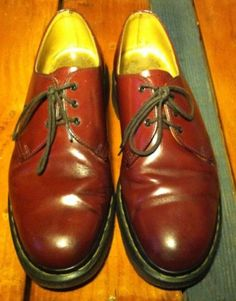21f9e1364c3 Vintage-Dr-Martens-1461-Cherry-Red -Oxblood-UK-8-Mens-9-Womens-10-Made-In-England