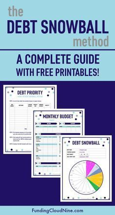 This is the ultimate guide to Dave Ramsey's debt snowball method! Use these free debt snowball printables (worksheets) to pay off debt and live the debt-free life!