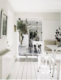 I would love to paint some wood flooring white someday.