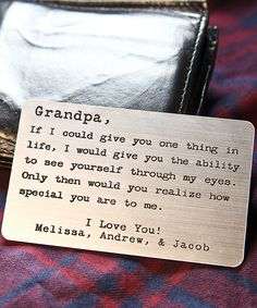 Look at this 'Dear Grandpa' Personalized Message Plaque on #zulily today!