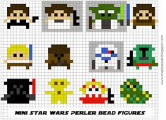 MapleSeeds Header: Make It Monday | Perler Bead Star Wars Magnets (Tuesday Edition)