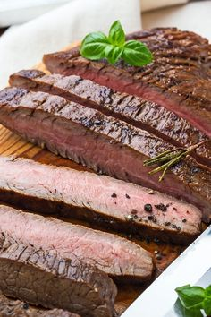 Grilled Marinated Flank Steak Recipe with Soy Sauce, Brown Sugar, Lemon Juice, Olive Oil, Garlic, Ginger, and Onion - Gluten Free, Low Calorie, and Paleo