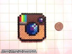 Instagram Logo Perler Bead Sprite - an UnleashtheGeek original design - by UnleashTheGeek