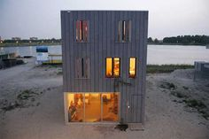 Shipping container beach house. Another example of the versatility of shipping container homes.