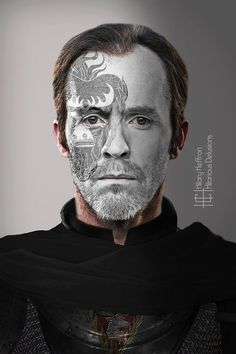 Stannis Baratheon | Game of Thrones War Paint by Hilary Heffron - Hilarious Delusions
