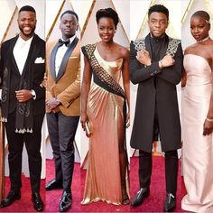 Wakanda forever ...shining at the Oscars 2018!