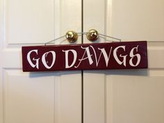 Go Dawgs sign from reclaimed wood