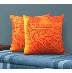 Jaipore Ornamental Cushion Cover