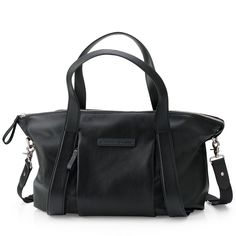Bugaboo Black Leather Changing Bag | Storksak