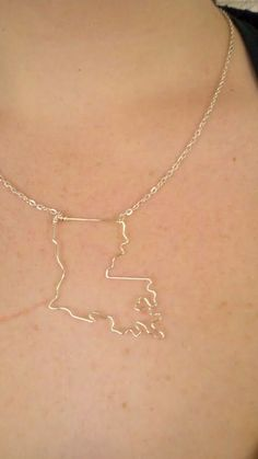 Louisiana State Necklace#Repin By:Pinterest++ for iPad#