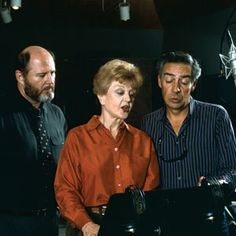 Angela Lansbury with Jerry Orbach and David Ogden Stiers recording their voices