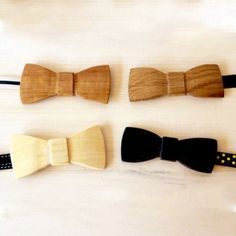 Handmade Wooden Bowtie. Availible in: Oak, Birch, Alder, Limetree and Mahogany black. Made by Mats Olsson.