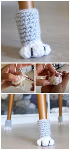Today we are going to learn How to Crochet Cat Paw Chair Socks. If you are nervous that the legs are going to scratch the floor so you can quickly crochet