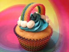 Rainbow Party Food - Rainbow Cupcakes!