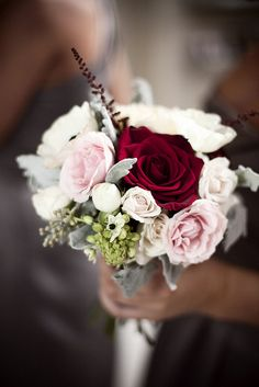 White, Pink and Red Bouquet by Blue Bouquet, www.bluebouquet.com