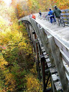 The Virginia Creeper Trail in autumn.